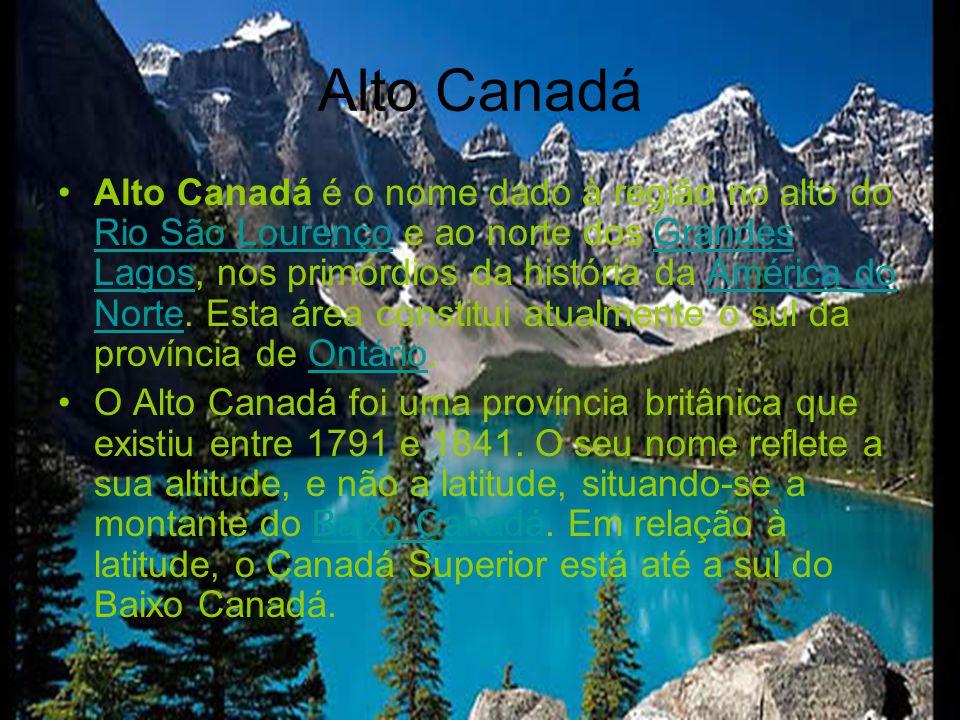 Baixo Canadá é o nome dado à região próxima à foz do Rio São Lourenço, nos primórdios da história da América do Norte.