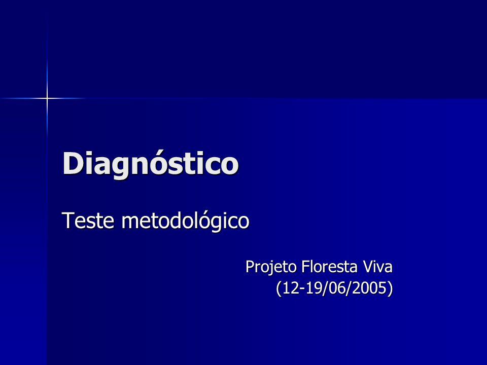 Diagnóstico Teste metodológico Projeto Floresta Viva (12-19/06/2005)