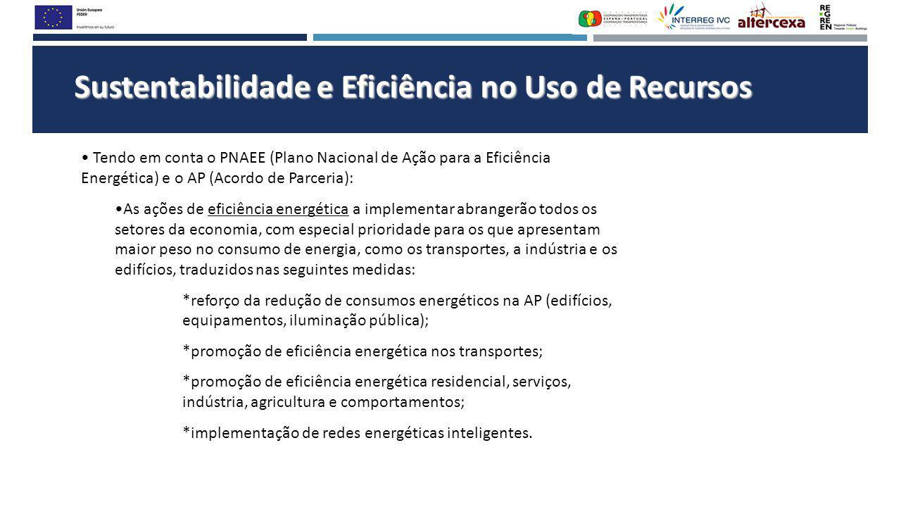 Sustentabilidade e Eficiência no Uso de Recursos Tendo em conta o PNAEE (Plano Nacional de Ação para a Eficiência Energética) e o AP (Acordo de Parcer