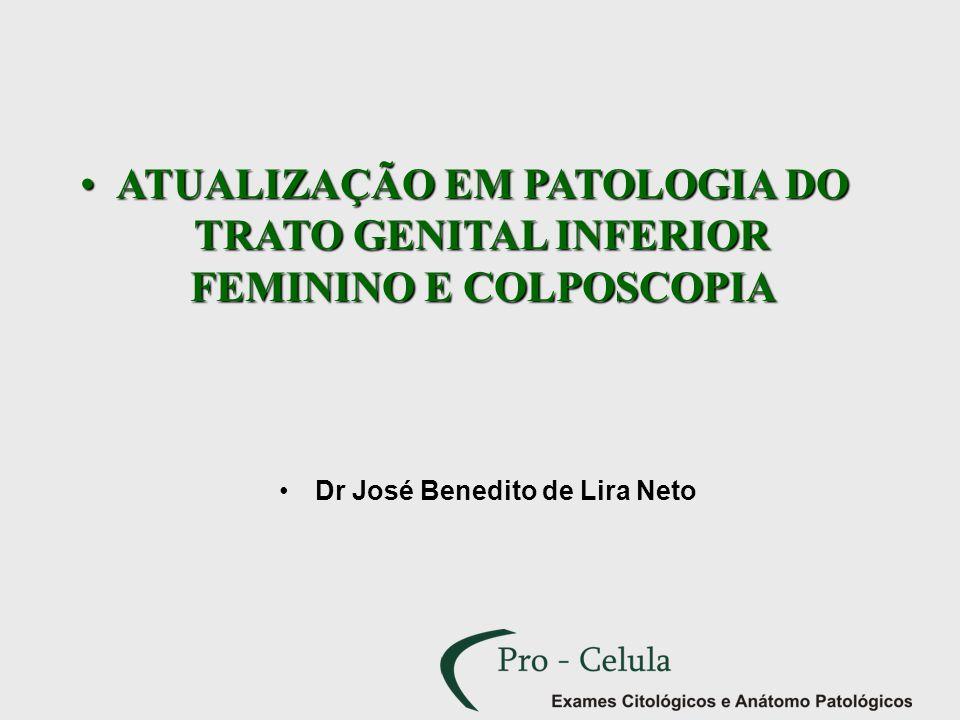 ATUALIZAÇÃO EM PATOLOGIA DO TRATO GENITAL INFERIOR FEMININO E COLPOSCOPIAATUALIZAÇÃO EM PATOLOGIA DO TRATO GENITAL INFERIOR FEMININO E COLPOSCOPIA Dr
