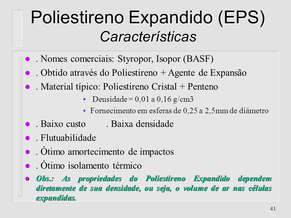 40 Poliestireno Alto Impacto (PSAI/HIPS) - Aplicações