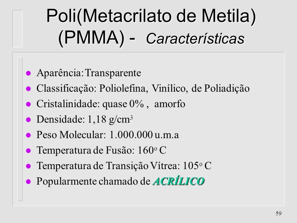 58 Poli(Cloreto de Vinilideno) (PVDC) Aplicações