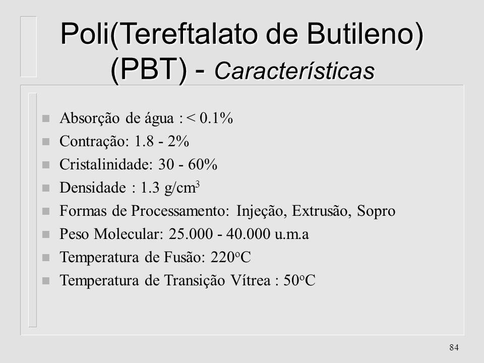 83 Poli(Tereftalato de Etileno) (PET) - Aplicações