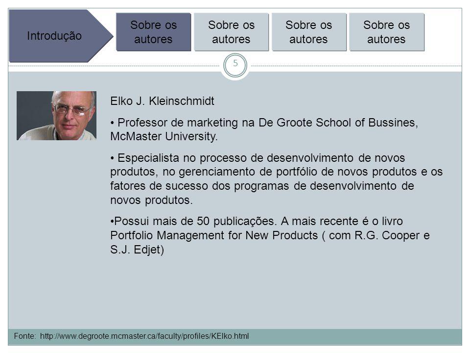 6 Introdução Sobre os autores Gestão de Portfólio Sobre os autores Gestão de Portfólio das empresas Marketing