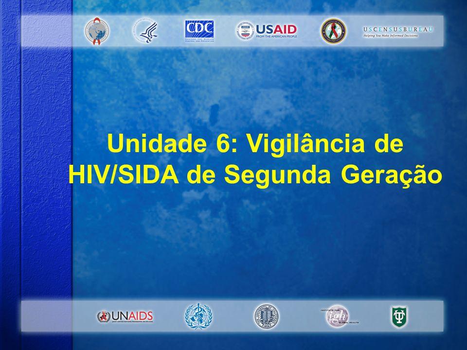 Unidade 6: Vigilância de HIV/SIDA de Segunda Geração #1-6-1 Unidade 6: Vigilância de HIV/SIDA de Segunda Geração