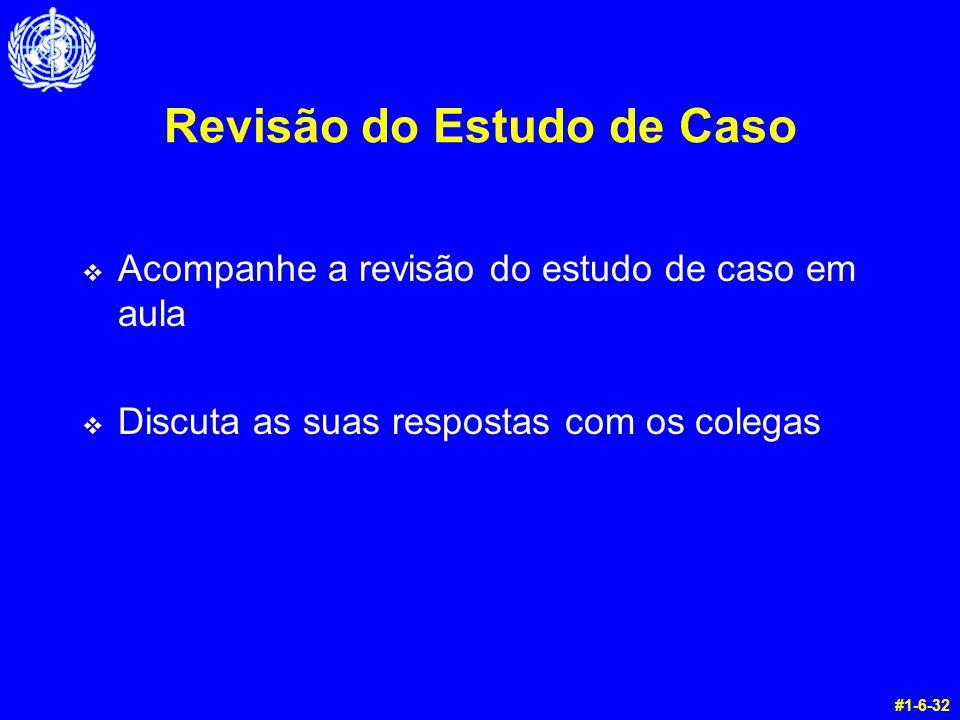 Revisão do Estudo de Caso v Acompanhe a revisão do estudo de caso em aula v Discuta as suas respostas com os colegas #1-6-32