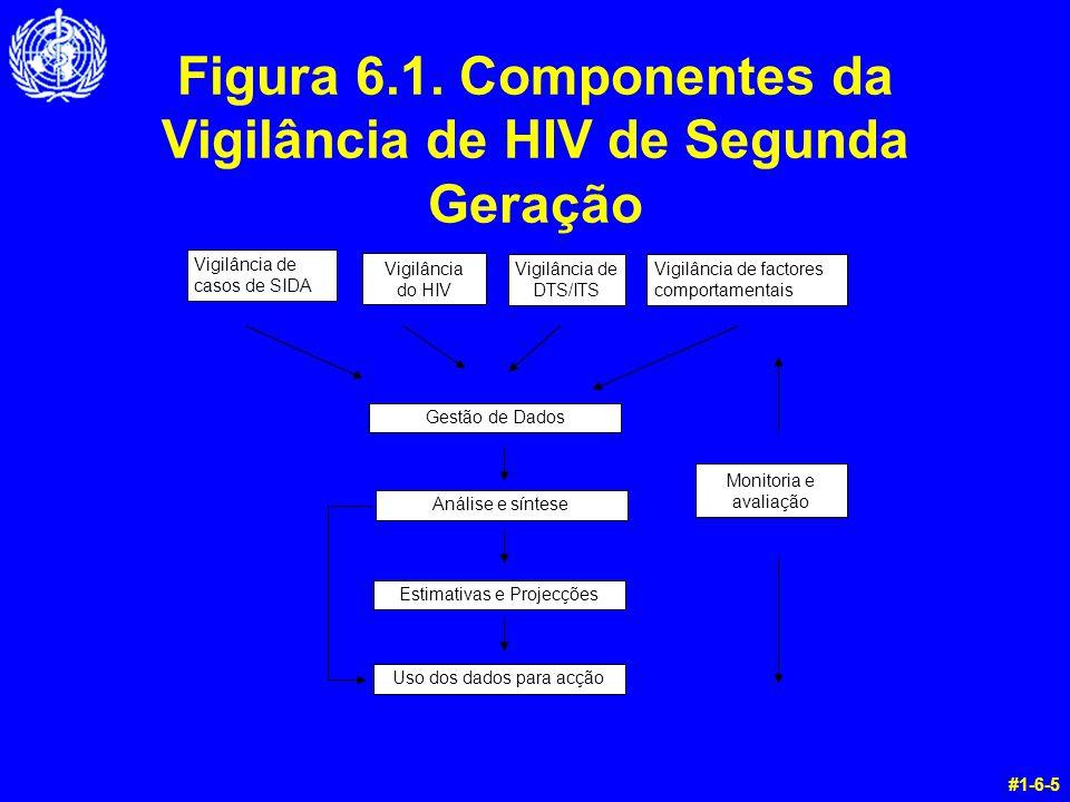 Figura 6.1. Componentes da Vigilância de HIV de Segunda Geração #1-6-5 Gestão de Dados Vigilância de casos de SIDA Vigilância do HIV Vigilância de DTS