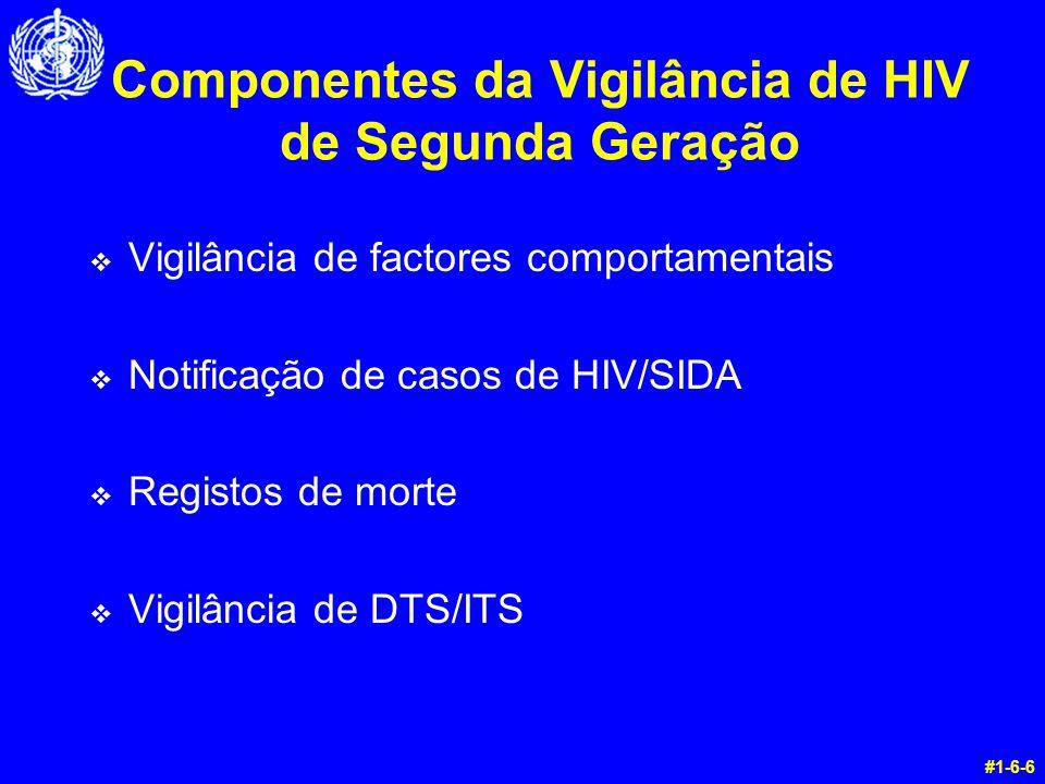 Componentes da Vigilância de HIV de Segunda Geração v Vigilância de factores comportamentais v Notificação de casos de HIV/SIDA v Registos de morte v