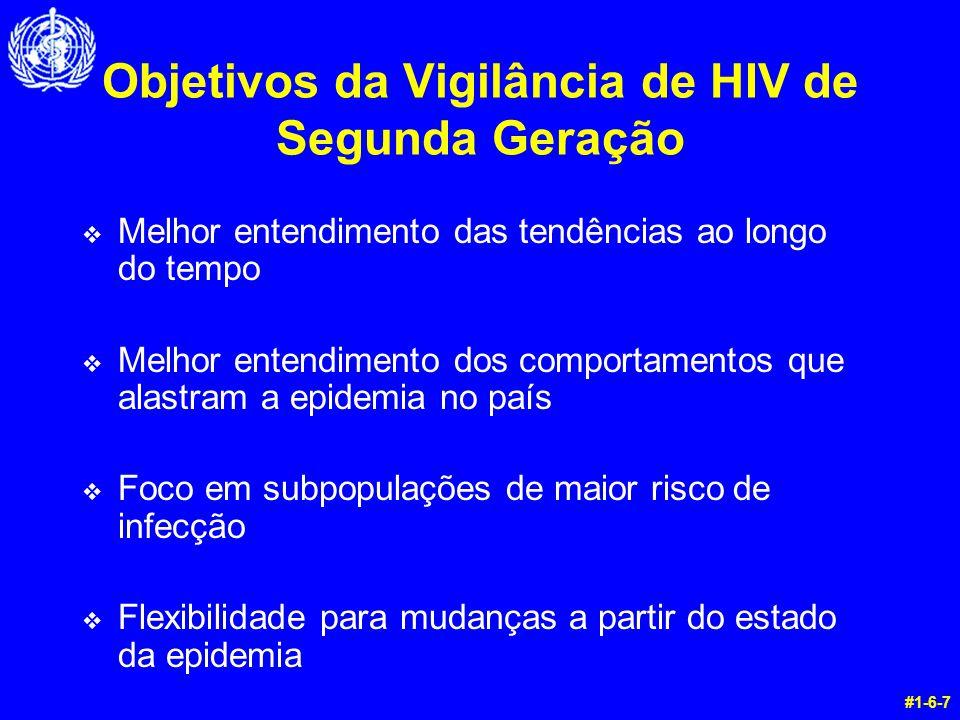 Objetivos da Vigilância de HIV de Segunda Geração v Melhor entendimento das tendências ao longo do tempo v Melhor entendimento dos comportamentos que