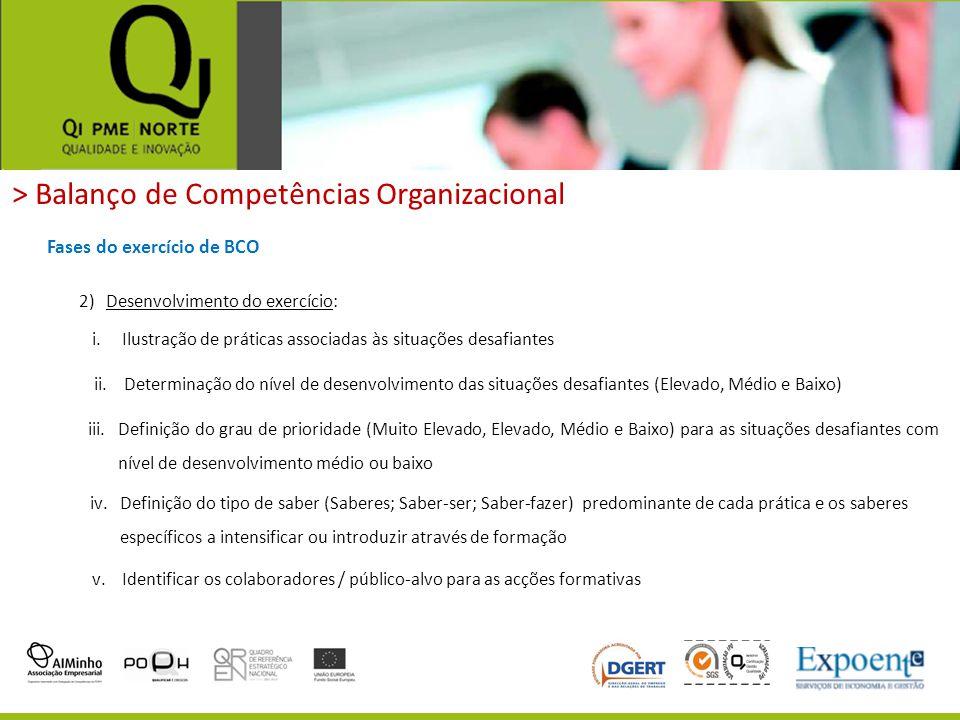 > Balanço de Competências Organizacional Fases do exercício de BCO 2)Desenvolvimento do exercício: v.Identificar os colaboradores / público-alvo para