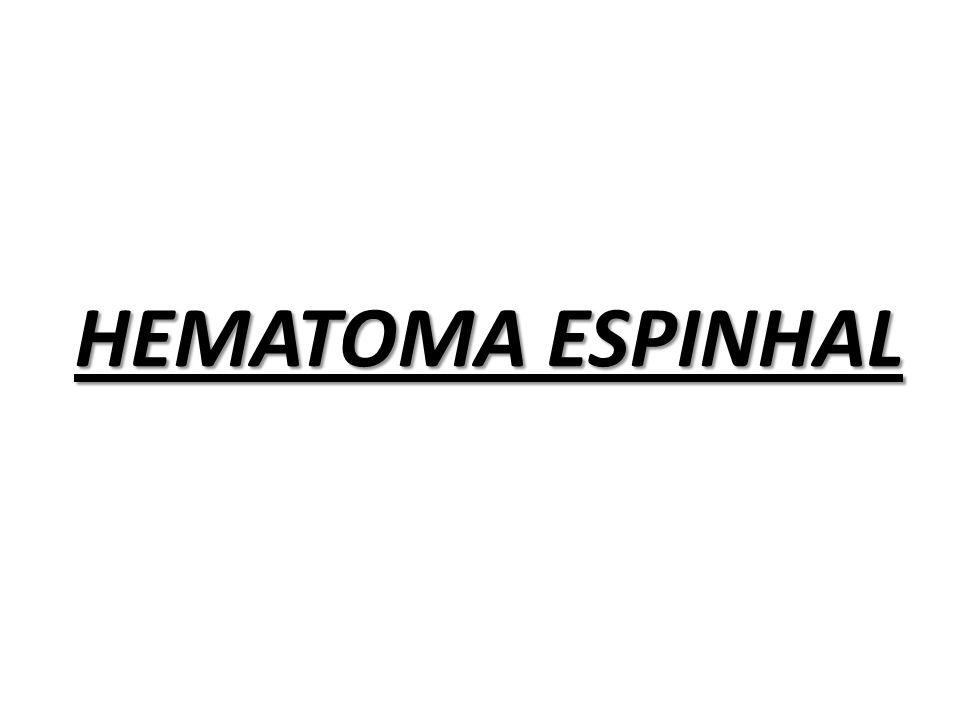 HEMATOMA ESPINHAL