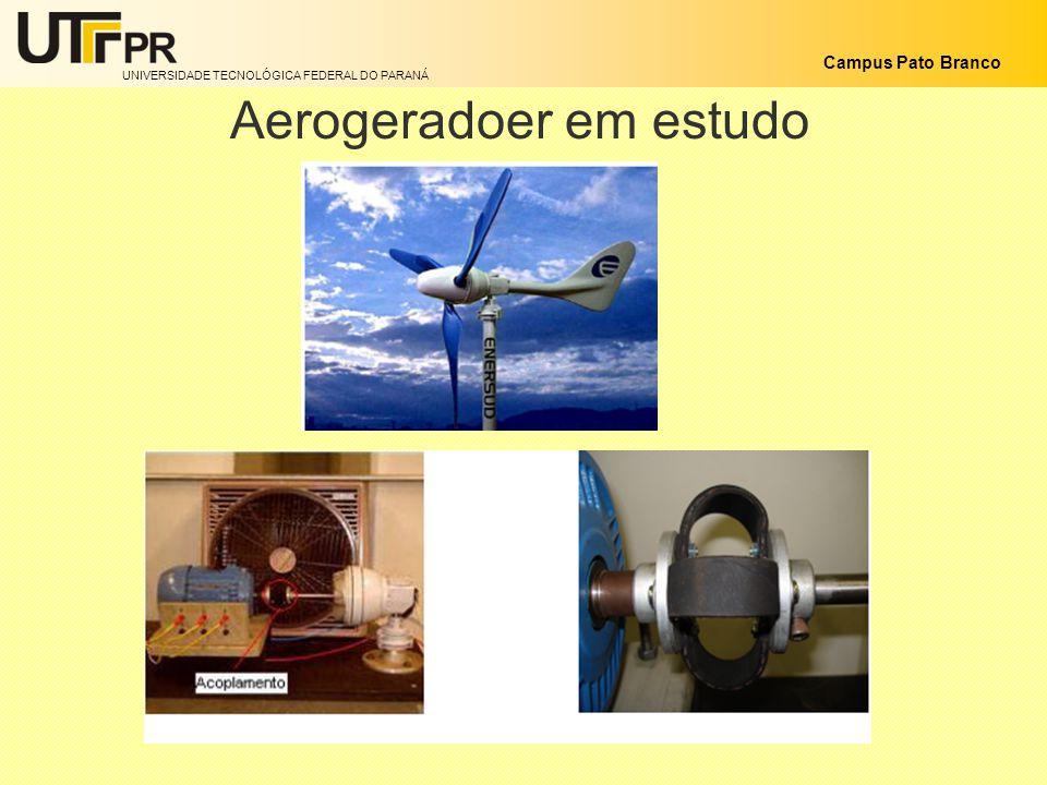 UNIVERSIDADE TECNOLÓGICA FEDERAL DO PARANÁ Campus Pato Branco Aerogeradoer em estudo