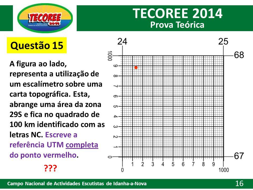 TECOREE 2014 Prova Teórica Campo Nacional de Actividades Escutistas de Idanha-a-Nova 16 Questão 15 A figura ao lado, representa a utilização de um esc