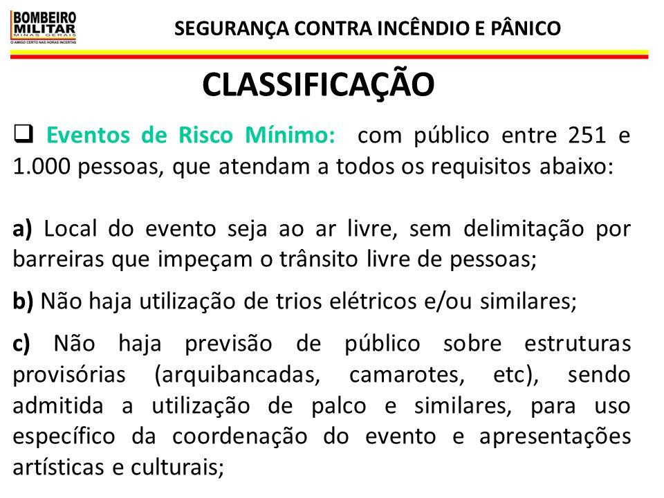 SEGURANÇA CONTRA INCÊNDIO E PÂNICO 49 SINALIZAÇÃO DE EMERGÊNCIA  Construções provisórias cobertas, como camarotes, circos e tendas, com área > 50 m²: IT 15.