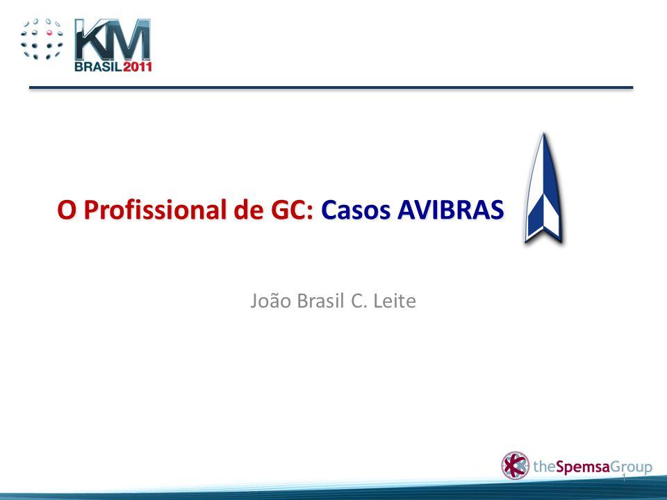O Profissional de GC: Casos AVIBRAS João Brasil C. Leite 1