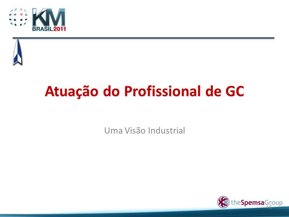 Atuação do Profissional de GC Uma Visão Industrial 16
