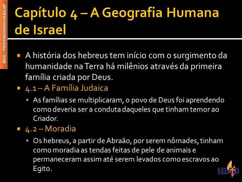 IBAD – PINDAMONHANGABA/SP  A história dos hebreus tem início com o surgimento da humanidade na Terra há milênios através da primeira família criada por Deus.