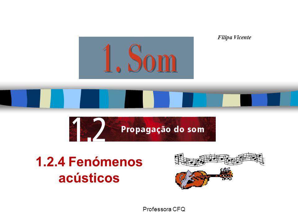 Filipa Vicente Professora CFQ 1.2.4 Fenómenos acústicos