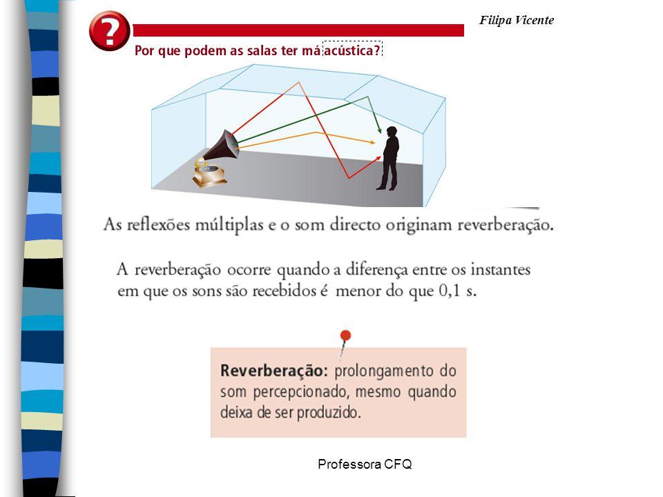 Filipa Vicente Professora CFQ O sonar é uma aplicação prática da reflexão de ultrassons.
