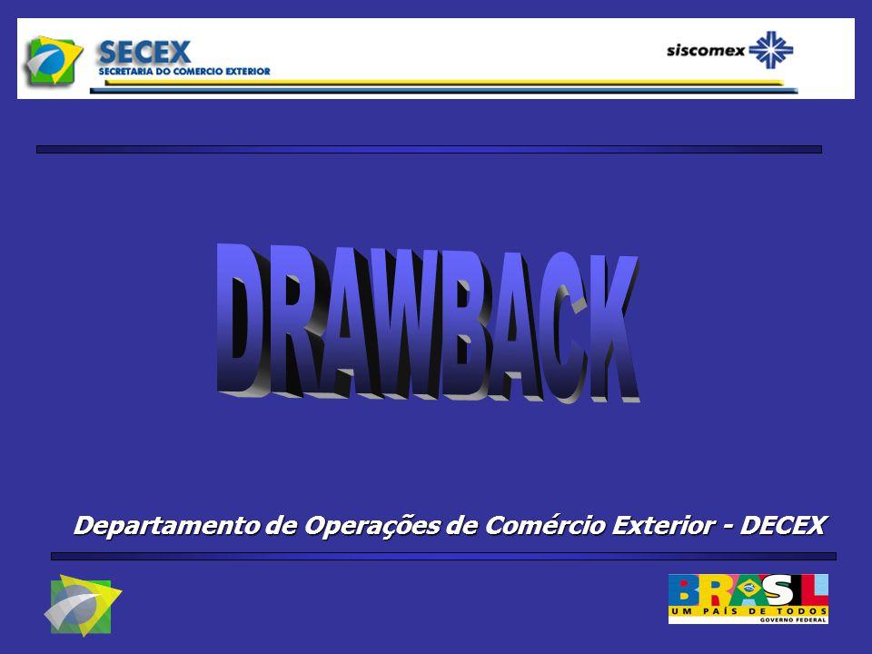 Departamento de Operações de Comércio Exterior DECEX Marcelo Sampaio Filho Coordenador do Siscomex Secretaria de Comércio Exterior - SECEX Ministério do Desenvolvimento, Indústria e Comércio Exterior - MDIC