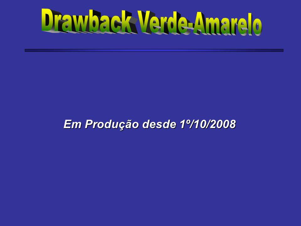 Em Produção desde 1º/10/2008