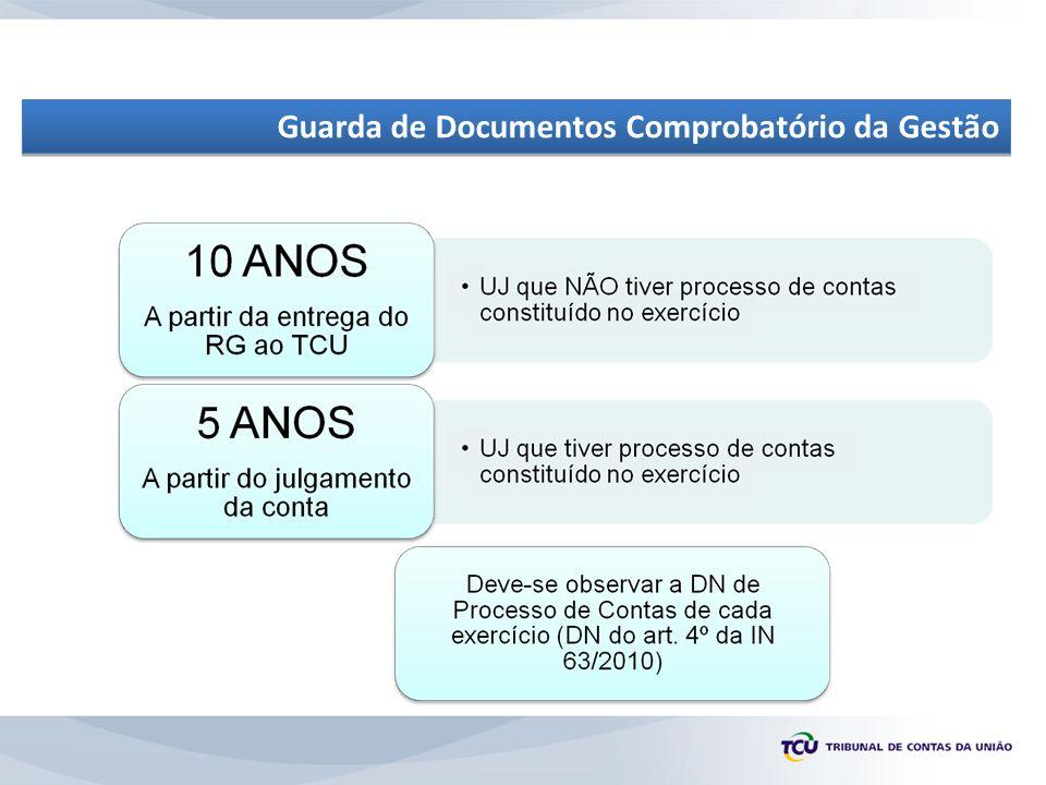 Guarda de Documentos Comprobatório da Gestão