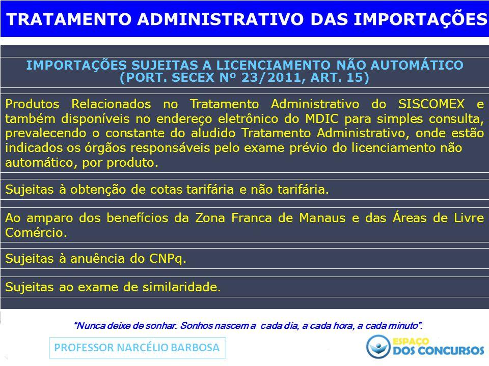 IMPORTAÇÕES SUJEITAS A LICENCIAMENTO NÃO AUTOMÁTICO (PORT.