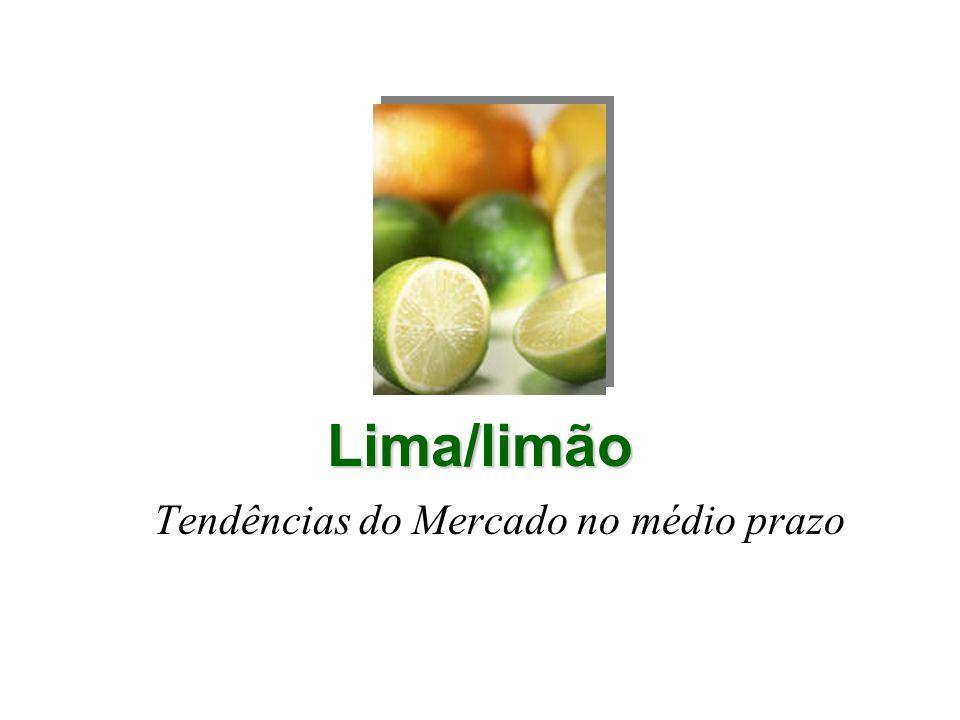 Lima/limão Tendências do Mercado no médio prazo