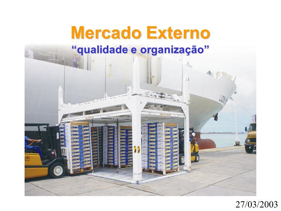 """Mercado Externo """"qualidade e organização"""" 27/03/2003"""
