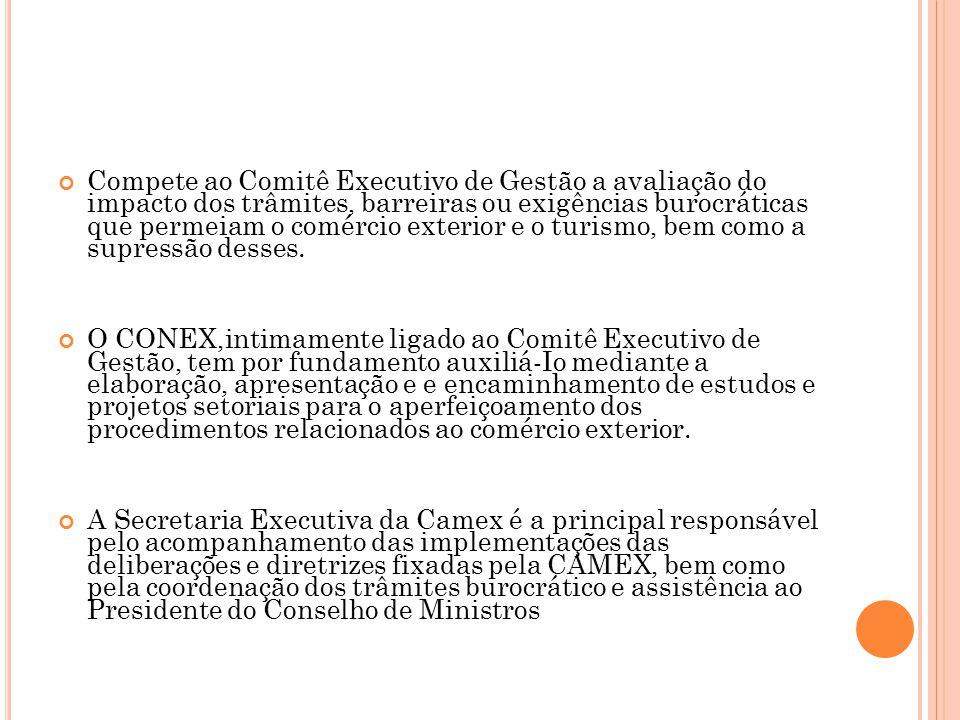 S ECRETARIA DE C OMÉRCIO E XTERIOR (S ECEX ) A Secex possui o papel fundamental de contribuir na instrumentalização das políticas de desenvolvimento do comércio exterior formuladas pela MDIC, em especial pela Camex.