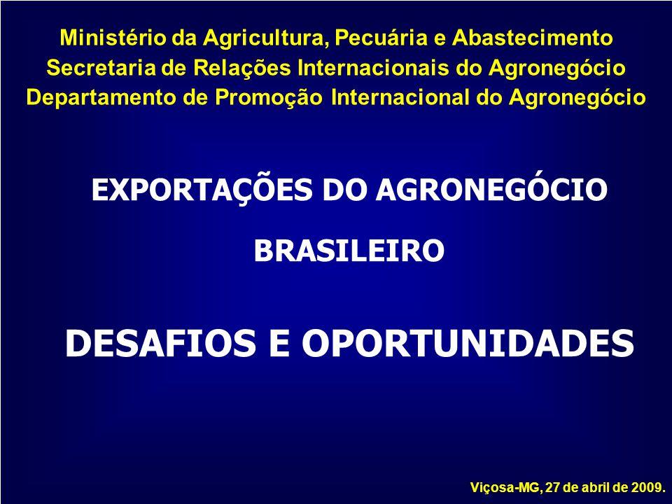 Ministério da Agricultura, Pecuária e Abastecimento Secretaria de Relações Internacionais do Agronegócio Departamento de Promoção Internacional do Agr