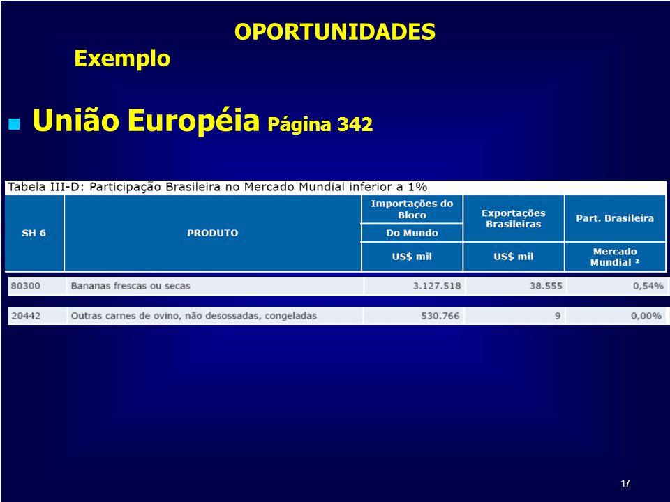 17 OPORTUNIDADES Exemplo União Européia Página 342
