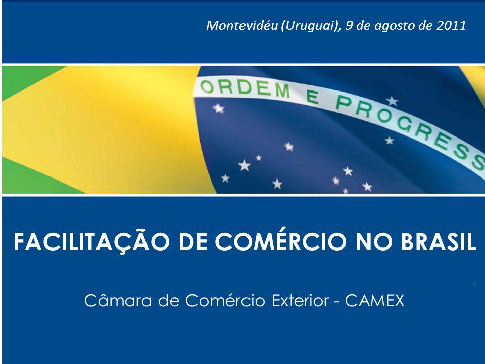 1 FACILITAÇÃO DE COMÉRCIO NO BRASIL Câmara de Comércio Exterior - CAMEX Montevidéu (Uruguai), 9 de agosto de 2011