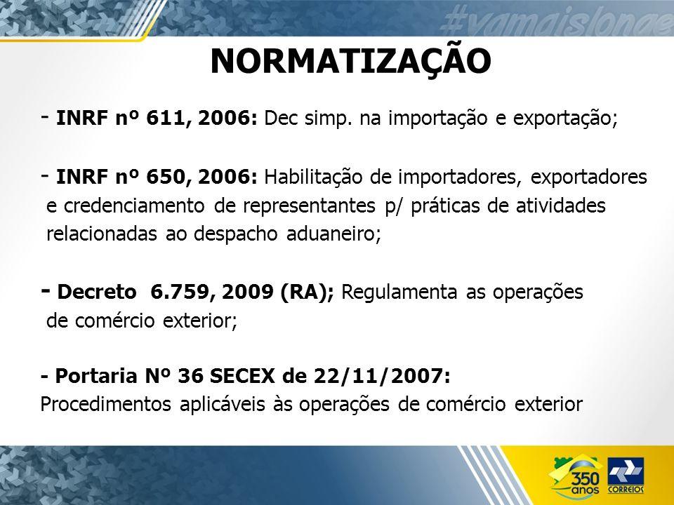 NORMATIZAÇÃO - INRF nº 611, 2006: Dec simp.