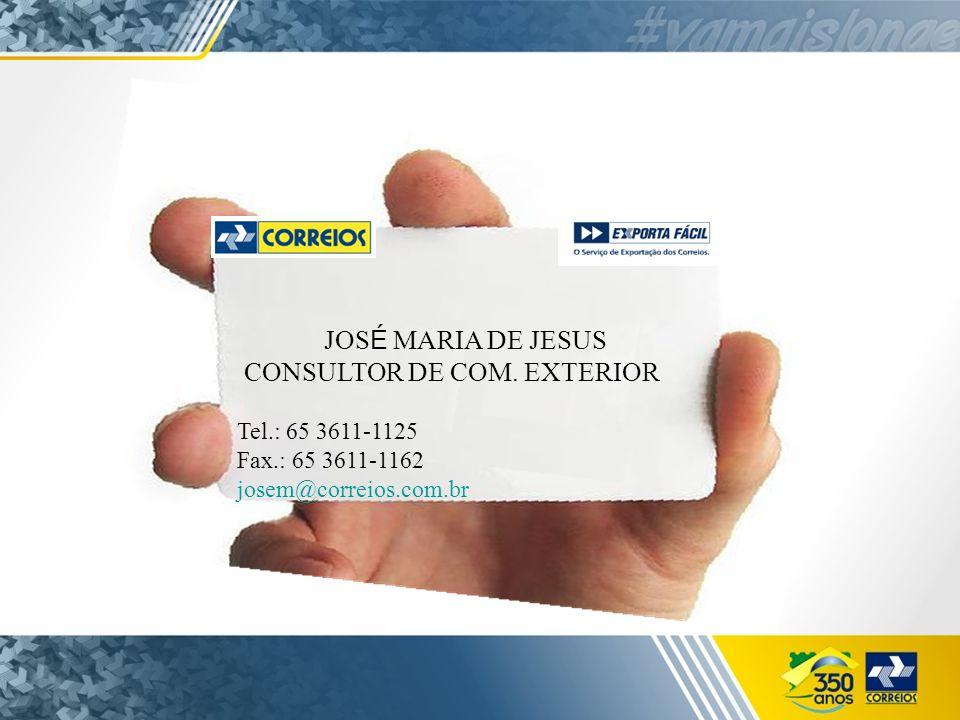 JOS É MARIA DE JESUS CONSULTOR DE COM.