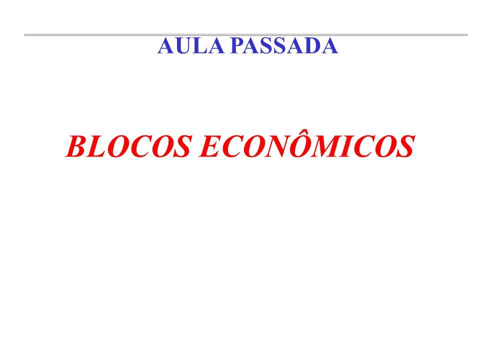 BLOCOS ECONÔMICOS AULA PASSADA