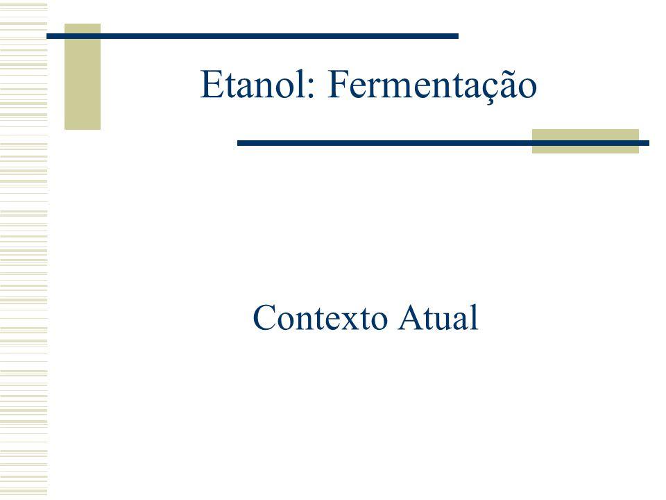 Etanol: Fermentação Contexto Atual
