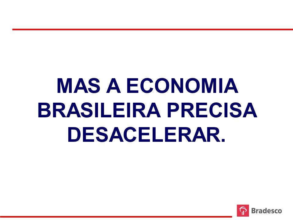 29 EVOLUÇÃO DA DEMANDA DOMÉSTICA E DO PIB 2006 - 2012 FONTE: IBGE ELABORAÇÃO: BRADESCO