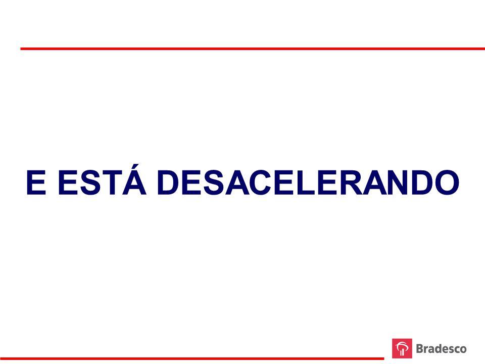 Volume de Vendas no Comércio Varejista Brasileiro - Evolução Semestral Dessazonalizada e Anualizada - Crescimento T / T-6 Fonte: IBGE Elaboração: Bradesco