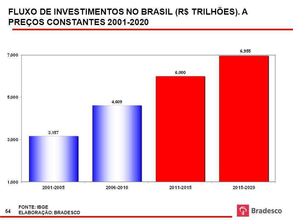 55 RELAÇÃO INVESTIMENTO/ PIB.