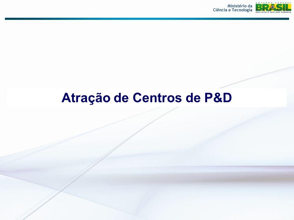 Atração de Centros de P&D Ministério da Ciência e Tecnologia