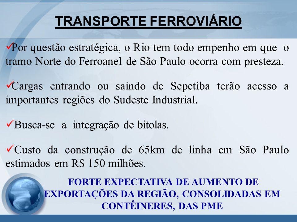 Por questão estratégica, o Rio tem todo empenho em que o tramo Norte do Ferroanel de São Paulo ocorra com presteza.