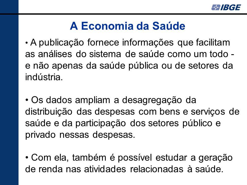 A Economia da Saúde A publicação fornece informações que facilitam as análises do sistema de saúde como um todo - e não apenas da saúde pública ou de