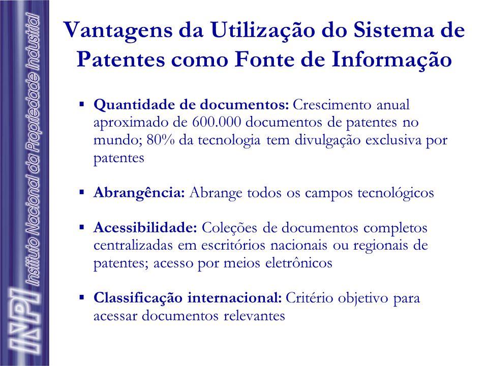 Informação Tecnológica como Contrapartida do Detentor da Patente para a Sociedade Interesse do Inventor: Garantia de retorno do investimento em P&D –