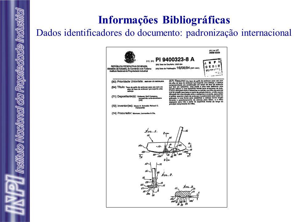 O Documento de Patente Informações bibliográficas - Folha de rosto Relatório descritivo Reivindicações Desenhos, se for o caso Resumo