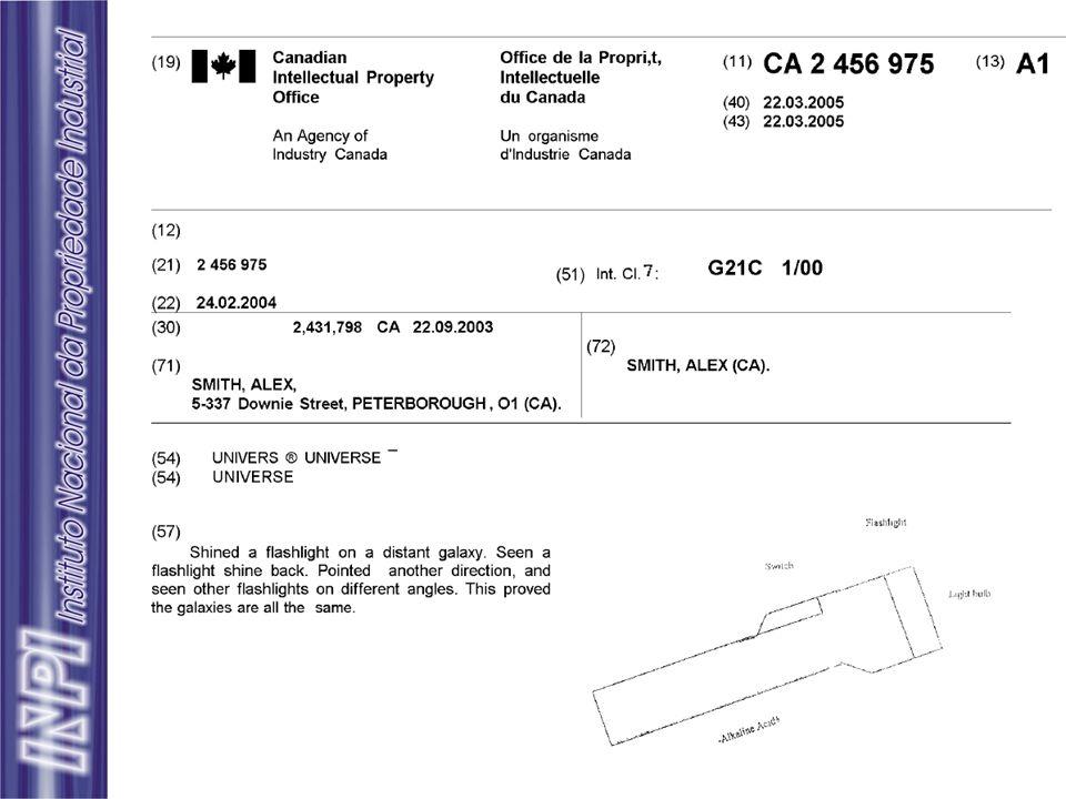 Patente concedida (Informação Jurídica) X Documento de Patente (Informação Tecnológica)