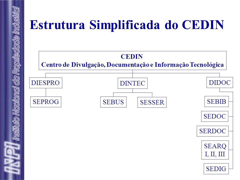 INPI/DART/CEDIN Serviços de Informação Tecnológica