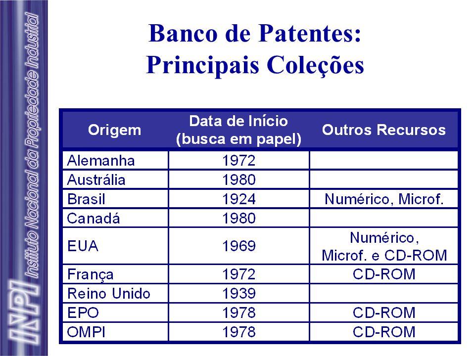 n Implantação iniciada em 1973, com adoção da Classificação Internacional de Patentes, para dar suporte ao exame de pedidos de patente; n Em 1976, dis