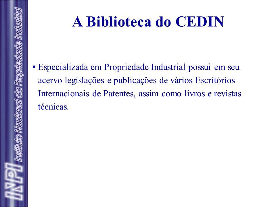 Banco de Patentes: Principais Coleções