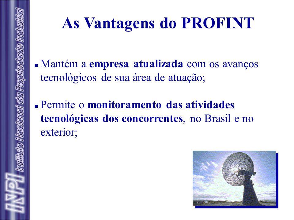 n Objetivo: Disseminação seletiva de informação tecnológica contida em documentos de patente, nacionais e estrangeiros. n Forma de Atuação: As empresa
